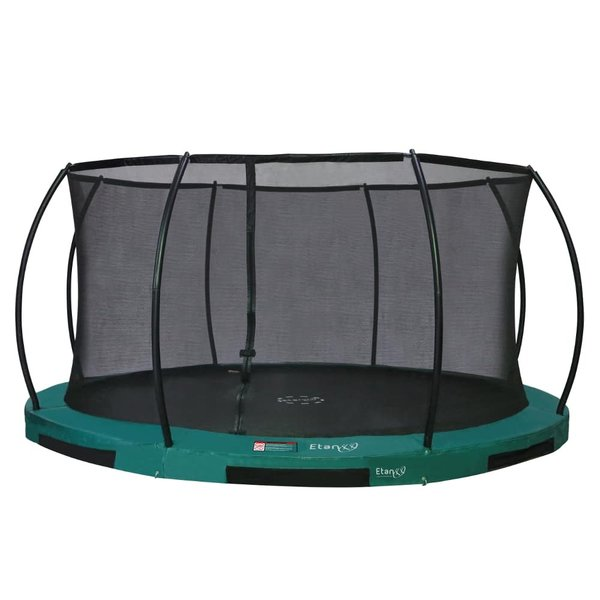 Etan Inground/Bodentrampolin Hi-Flyer 12 Combi/Set 366 cm grün